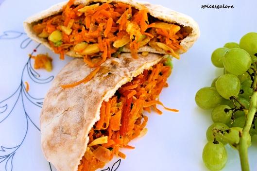 Moroccan Carrot Wrap