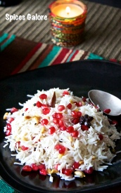 Pomegranate - Pine Nut Pilaf